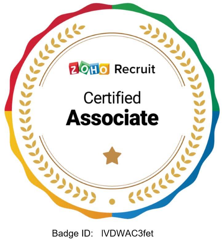 Zoho Certified Associate