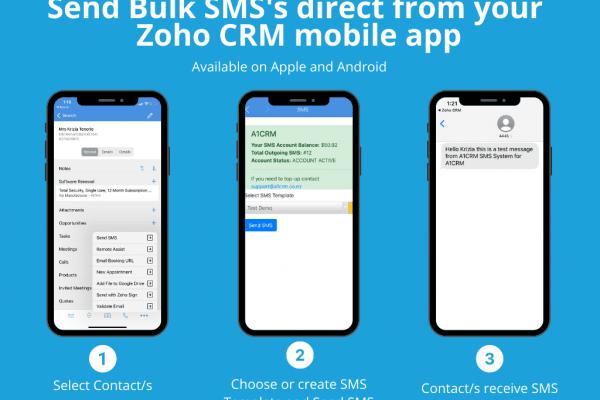 SMS Bulk using Zoho CRM Mobile