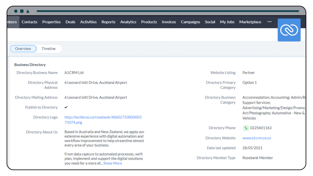 Business Directory CRM