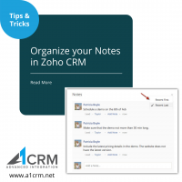 Organize your notes in Zoho CRM