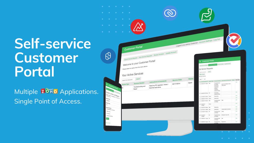 Customer Portal zoho application